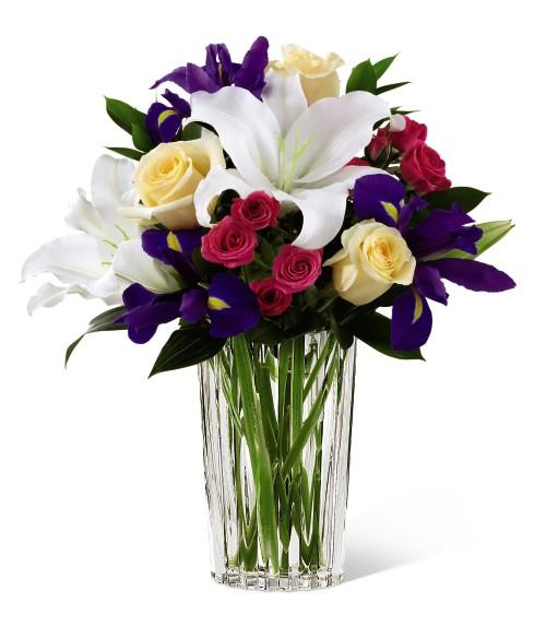Fruit Flower Baskets Edmonton : Easter flower bouquet with iris and lilies at ollie s