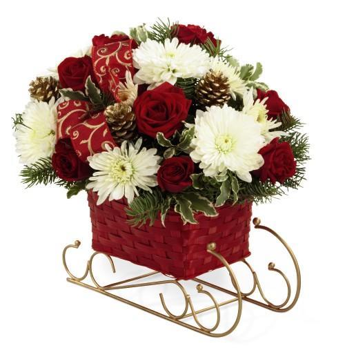 Fruit Flower Baskets Edmonton : Calgary grower direct christmas flower arrangement in a