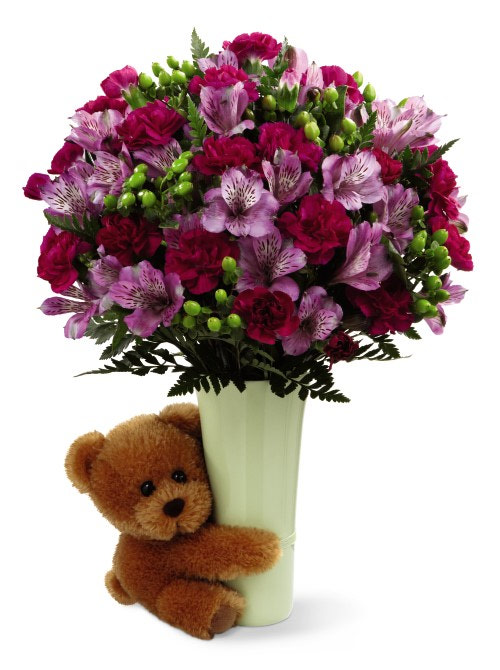 Fruit Flower Baskets Edmonton : Mix flowers and bear at ollie s grower direct in calgary