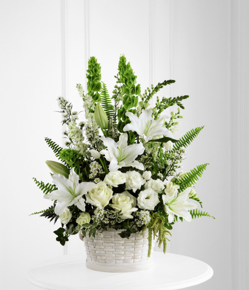 Flower Basket Arrangements Pictures : Sympathy flower basket for funeral services at ollie s