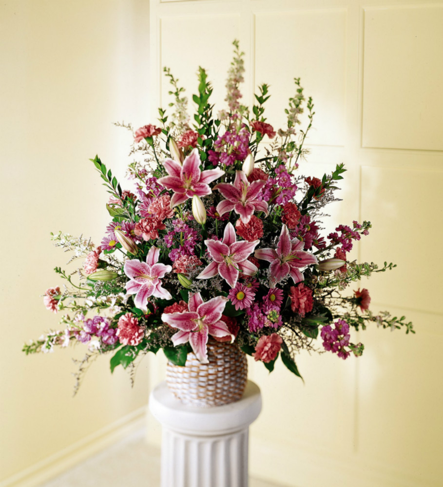 Go For Oversized Florals: Sympathy Flowers