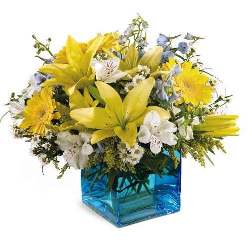 Calgary Alberta Flower Shop New Baby Boy Floral Arrangement
