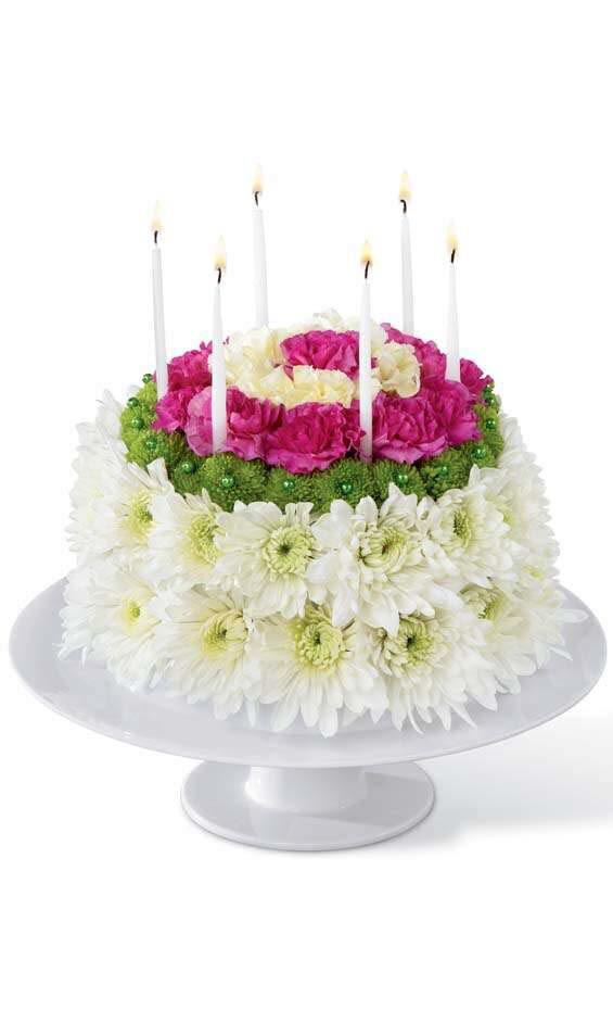 Ollies Grower Direct Flower Arrangements Flower Birthday Cake