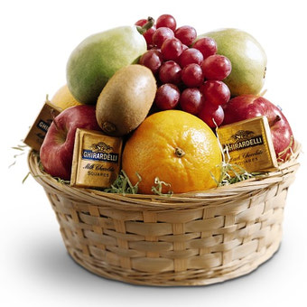 Chocolate And Fruit Basket