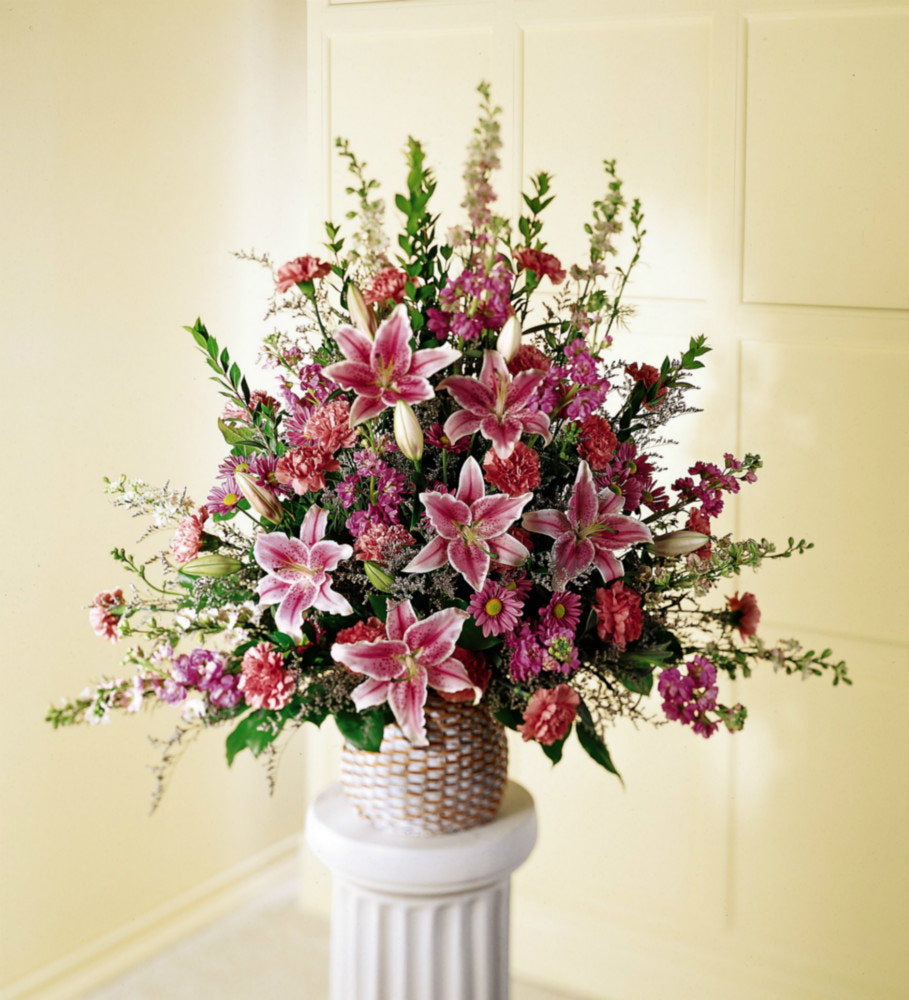 Sympathy Flowers Calgary Florist Stargazer Lily Funeral Flowers